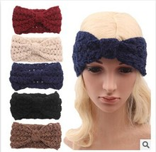 Women Crochet Bow headband Turban Knitted Headwrap Hair Band Winter Ear Warmer Headband