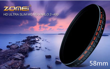 ZOMEI 58 mm Fader Variable ND Filter Adjustable ND2 to ND400 58mm High Definition Neutral Density for Camera DSLR