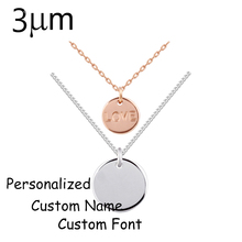 3UMeter Personalized Custom Disc and Love Pendant  Necklace for Women Etsy Amazon Supplier