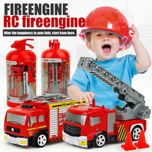 Funny Remote Control Toys Mini Simulation Fire Truck Model Car Firefighter Electrical Car For kids 2017 NEW Voiture Telecommande(China)