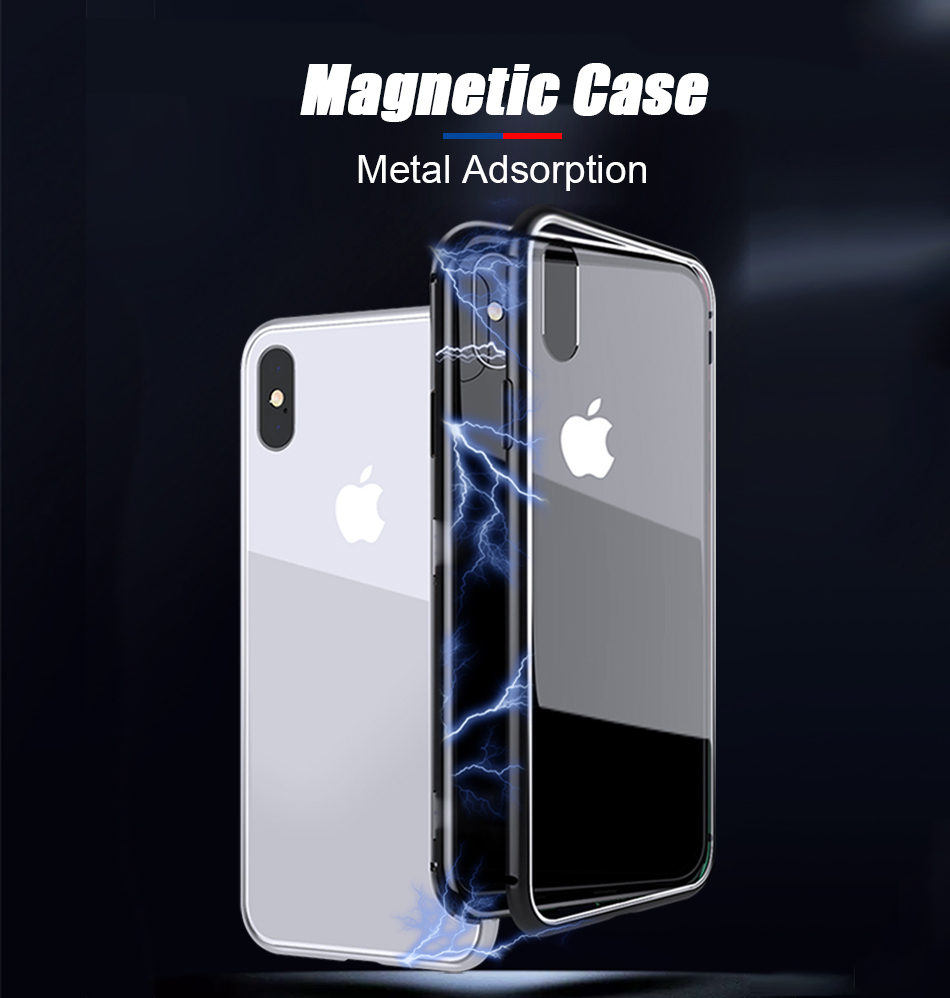 TOMKAS Magnetic Case For iPhone 7 8 X 6 6s Cover Phone Case For iPhone 7 8 6 6s Plus X Luxury Protect Metal Adsorption Coque    1