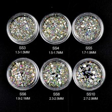 AB Rhinestones for Nails Design Crystal Glass Rhinestones on Nails Glass 3D Strass Nail Art Decoration Gems Manicure MJZ1024
