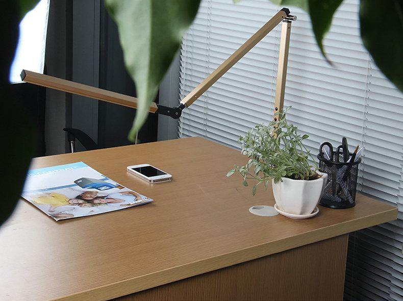 Artpad Energy Saving Modern LED Desk Lamp Dimmer Eye Care Swing Long Arm Business Office Study Desktop Light for Table Luminaire 4