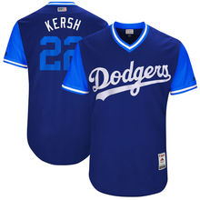 "MLB Men's Los Angeles Dodgers Clayton Kershaw ""Kersh"" Navy 2017 Players Weekend Authentic Jersey(China)"