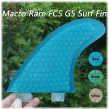 Big discount New arrival original blue high quality FCS fiberglass surfboard G5 surf fins(China)