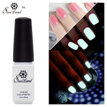 Saviland Soak Off Nail Art Polish Gel Glow in the Dark UV Gel Polish Fluorescent Neon Luminous Varnish Glow Gel Light(China)