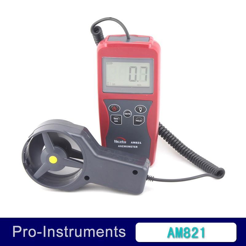 AM821 LCD Handheld Digital Anemometer Wind Speed Meter  with Vane Sensor Backlight <br><br>Aliexpress