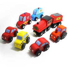 x-8car Free shipping wholesales mini  wooden color Car Toys model car diecast toy best gift for kids 8pcs/lot