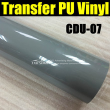 50X100CM/LOT Heat Transfer PU vinyl for cutter plotter, fabric transfer pu film  CDU-07 GREY