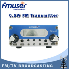 Free shipping FMUSER FU-05B New Design 0.5watt FM PLL transmitter stereo 87 to 108mhz