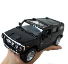 1PCS 2017 New pattern Free shipping Kinsmart soft world h2 hummer suv car model alloy toy Wholesale ME009(China)