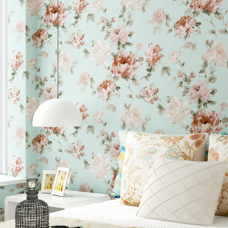 Pastoral Floral Flower PVC Waterproof Wallpaper Art Wall Painting Living Room Bedroom TV Background Wall Papers Home Decor 3D<br>