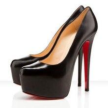 2018 Brand Platform Shoes Woman Peep Toe 16CM High Heels Pumps Sexy Nude  Women Shoes High Heels Fashion Wedding Bridal Shoes 8242bbd3f8f7