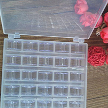Durable Plastic Storage Box Case with 25Pcs Sewing Bobbins Spools for Sewing Machine Household Sewing Tools(China)