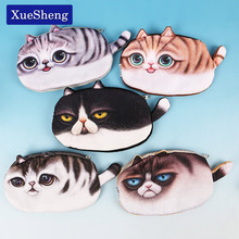 1PC Kawaii Cats Zipper Pencils Bags Cute 3D Plush Pencils Case Large Capacity School Supplies Stationery Pen Box(China)