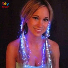 Triver Toy Wholesale Luminous Light Up LED Hair Braid Pigtail Party Decoration Flash Glow Event Festival Night club KTV Concert