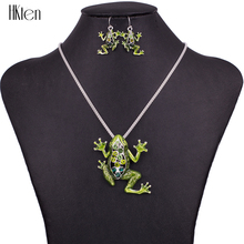 MS1504512 Fashion Jewelry Sets High Quality Necklace Sets For Women Jewelry Green Crystal Unique Frog Design