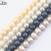 Free Shipping 6-7mm Hot Sale Natural Freshwater White Pink Purple Gray Black  Pearl Round Pearl Beads 15""