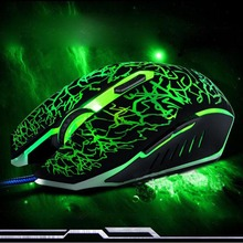 4000DPI Silence Click USB Wired Gaming Mouse Gamer 6Buttons Opitical Ergonomics Computer Mice For PC Mac Laptop Game LOL Dota