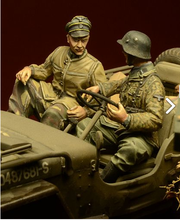 1/35 scale WW2 German Arden Battle SS 2 people (not including car) miniatures WWII Resin Model Kit figure Free Shipping