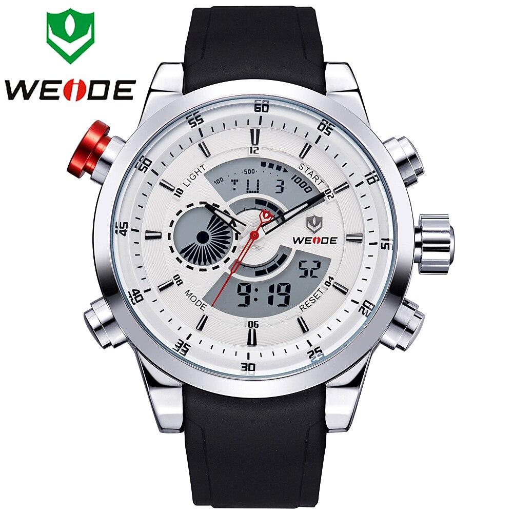 2017 Mens Watches WEIDE Top Brand Luxury Quartz Men Male Clock Digital LED Watch Military Sport Watch relogio masculino WH3401<br><br>Aliexpress