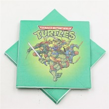 20pcs/lot Lego teenage ninja turtles theme boys birthday decor paper napkins/tissues/towels/wipes baby shower favors