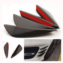 car styling 4PCS Universal Fit Front Bumper Lip Splitter Fins Body Spoiler Canards Valence Chin or subaru mercedes w204 bmw e46(China)