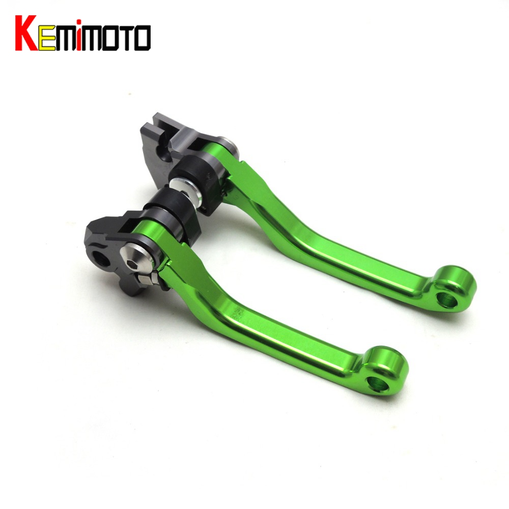 KEMiMOTO CNC Pivot Brake Clutch Lever for Kawasaki KX65 KX85 KX125 KX250 KX250F Motorcross short levers motorcycle part Aluminum<br>