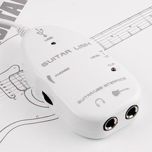 USB adapter to connect a guitar to a PC, Mac or laptop White(China)