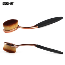 MAANGE 1Pcs Rose Gold Foundation Brush Oval Makeup Tool Cosmetic Cream Powder Blush Makeup Brushes Make Up Brushes Free Shipping