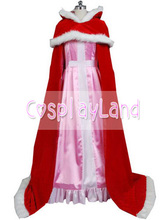 Belle Pink Dress Winter Costume Beauty and the Beast Princess Belle Cosplay Costume Party Dress Custom Made Halloween Costume