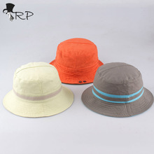 2016 wholesale Fashion Unisex Fishing Bucket Canvas Boonie Hat Sun Visor Cap Travel Outdoor Hat candy color Sun Protection hats