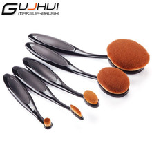 Profession 5pcs/set  Contour Brush toothbrush Oval Blending Brush Blush Foundation Powder Eyeliner Eyeshadow Brush Make up Brush