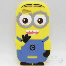 Lovely New Arrival 3D Cute Cartoon Despicable Me Yellow Minion Soft Silicone Material Case Back Cover For Sony Xperia E3()
