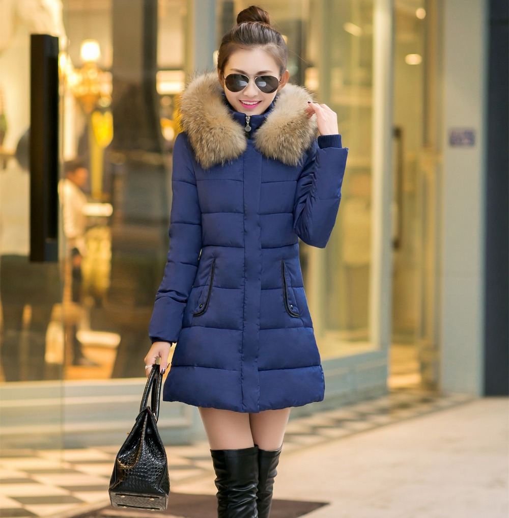 2017 Womens Down &amp; Parka Plus Size XXXL Warm Outerwear Slim Female Fur collar Hooded Thick Parkas Lady Winter Down Jacket CoatsОдежда и ак�е��уары<br><br><br>Aliexpress