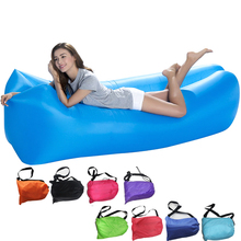 2017 New 190T Square Lazy Bag Sleeping Bag Fast Inflatable Camping Air Sofa Sleeping Beach Bed Air Lounge Waterproof Folding