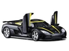 Koenigsegg Agera one:1 1:32 car model pull back kids toy sports car supercar simulation Fast & Furious Scissors door gift alloy
