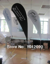 250X110cm Custom Teardrop FLag with printing TWO sides. (can with printing difference image on both sides)