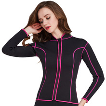 1PC 2mm Women Wetsuits Diving Jacket Suits Surfing Rash Guards Sailing Swimming Tops Clothes Swimwear Front Zipper 2017 DEO