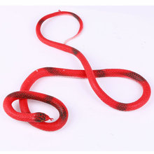 1PCS 110cm Funky Shock toys Simulation of the snakes The Realistic Rubber Toys Fake Snake random color(China)