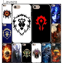 Lavaza World of Warcraft wow logo Hard White Cover Case for iPhone 7 7 Plus 6 6S Plus 5 5S SE 4 4S(China)