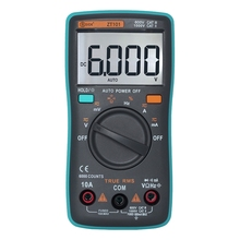 ZT98 ZT100 ZT101 ZT102 Auto Digital Multimeter 6000 Counts Backlight AC/DC Current Voltage Ohm Tester Portable LCD Screen Meter