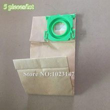 5 pieces/lot Vacuum Cleaner Paper Dust Bag Filter Bags for bork v7011 v 705 V701 V702 V703 Vacuum Cleaner parts