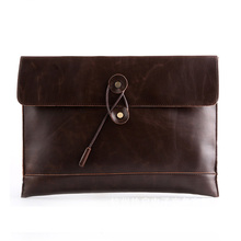 2017 Fashion Envelope Hand Bag Men Casual Vintage Clutch Famous Brand PU leather Bags Black Brown Designed Handbag bolso XA57YZ