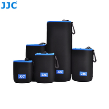 JJC NLP Series Neoprene Camera Lens Pouch Black Blue Lens Bag Small And Big Waterproof Camera Lens Case For Canon/ Sony/ Nikon