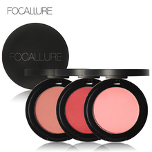 Clearance FOCALLURE Pro Baked Blush Powder Rouge Natural Orange Mineral Blush Bronzer Rose Blusher Cosmetics Face Blush Palette(China)