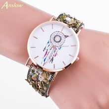 Anslow  Dressflow Casual Dream Catcher Pattern Faux Stone Stud Bracelet Round Case Quartz Wrist Watch  Drop Shipping D023