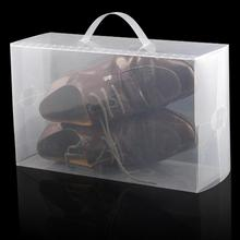 High Quality 5 x Clear Plastic Mens Shoe Storage Boxes Containers Size 8 9 10 11(China)