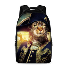 17 inch historical figures painting classical school backpack youth boys and girls laptop bag can store 15 inch computer