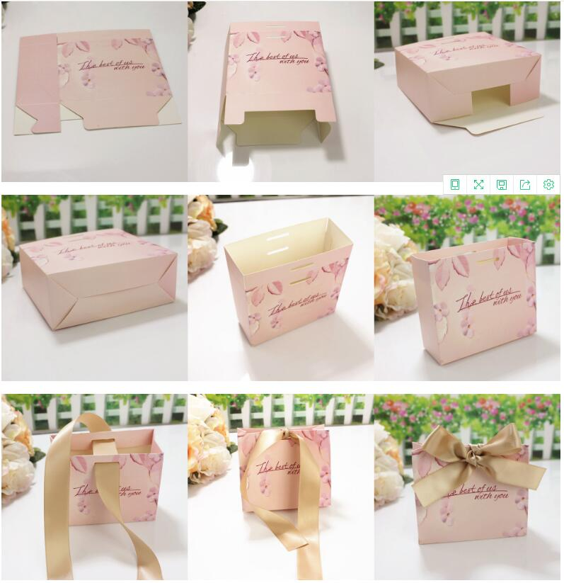 New Green Pink Gift Bags Wedding Favors and Gifts Box Party Paper Candy Box For Wedding Decoration Baby Shower Supplies (10)